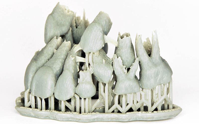 ricostruzione 3D resina